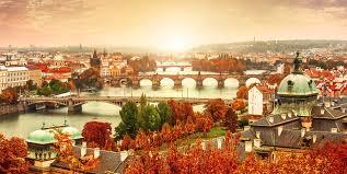 Udsigt over Den gyldne stad Prag